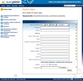 """Chcete si vytvořit """"Standardní eurounijní životopis""""? Jmenuje se <a href=""""https://europass.cedefop.europa.eu/cvonline/"""">EuroPass</a> a jeho méně pohodlné, ale stále interaktivní vytvoření je zdarma."""