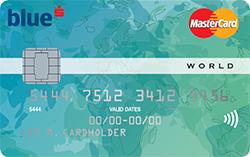 Kreditní karta MasterCard pro klienty segmentu Blue.
