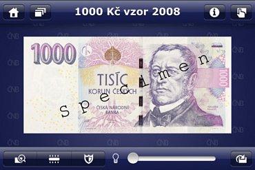Aplikace České peníze pro iPhone