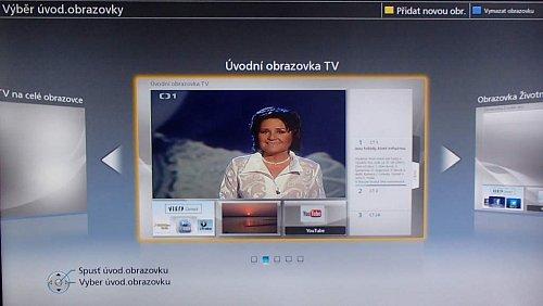 V instalaci si můžete vybrat, jaký typ domovské obrazovky vás bude po zapnutí televizoru vítat, resp. kolik budete mít místa na widgety a jak v jak velkém okně bude hrát aktuální kanál.
