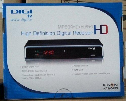 Přijímač Kaon NA 1000 HD, který bude Digi TV nabízet pro příjem HD kanálů. Zda i v Česku, to je zatím otázka.
