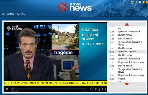 Stránka nového internetového kanálu Nova News.