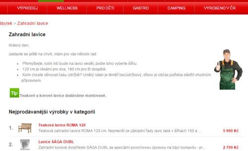 Rady, které byste dostali od prodavače naživo, jsme nasimulovali v e-shopu zahradnimanie.cz.