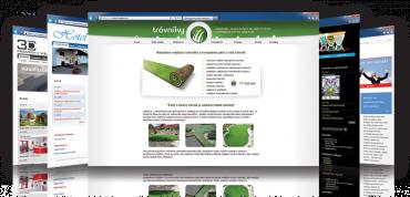 Ukázka webových stránek v inPage.