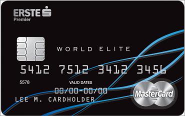 Debetní karta MasterCard World Elite vydávána k osobnímu účtu ČS Premier