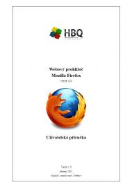 Příručka uživatele Firefox 4