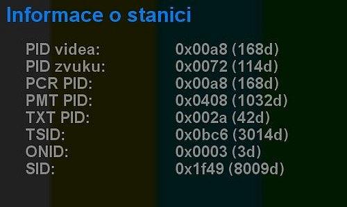 Technické parametry programové pozice, na níž budou vysílat stanice ČT :D a ČT art