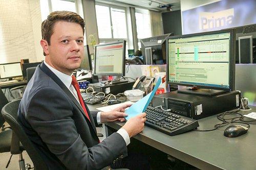 Dočasná náhrada za Tomáše Hauptvogela, parlamentní reportér Pavel Štrunc