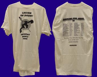 Pamětní tričko Legion of Doom z roku 1991