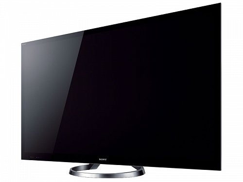 Nový televizor od Sony zaujme na první pohled nejen svou velikostí, ale také neobvyklým tvarem podstavce