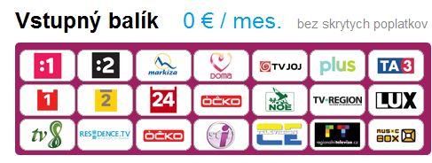 Balík slovenských a českých programů, které nabídne služba SmartTVbox bezplatně.
