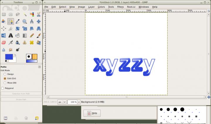 Skriptovani V Gimpu 5 Textove Objekty A Cesty Root Cz