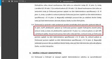 Ve smlouvě už se ale dlužník zavazuje k úhradě 10% sankce za předčasné splacení