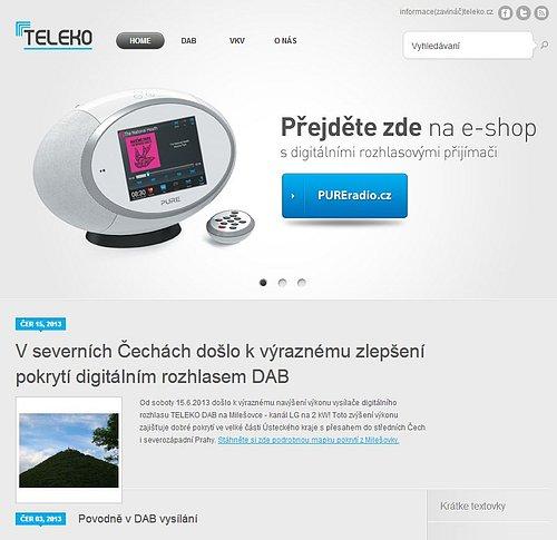 Nová podoba webu příbramské společnosti Teleko. Firma ji používá od června letošního roku