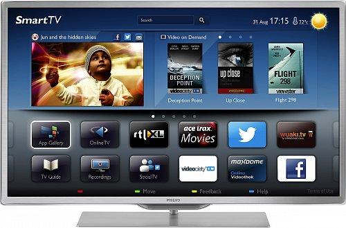 Televizory Panaconic jsou mezi šesti značkami u nás, které od poloviny letošního roku mohou přijímat aplikaci česko-slovenské internetové videopůjčovny Topfun. V těchto televizorech najdeme také aplikaci HbbTV. Na obrázku Philips je Smart TV série 9000.