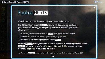 Jak má Samsung některé věci udělané pěkně, vstup do chytrých funkcí a zejména spuštění HbbTV mezi ně nepatří. Každý výrobce má zkrátka něco a logika a snadnost užívání jdou z neznámých důvodů zcela stranou. Platí to i zde!