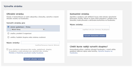 02 Facebook Pages - tvorba