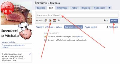 FB postování