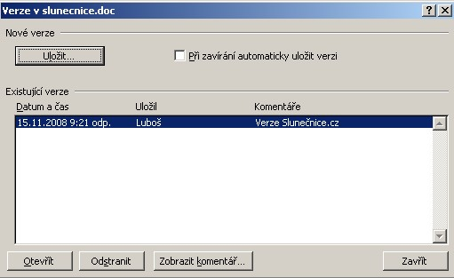 Word-verze