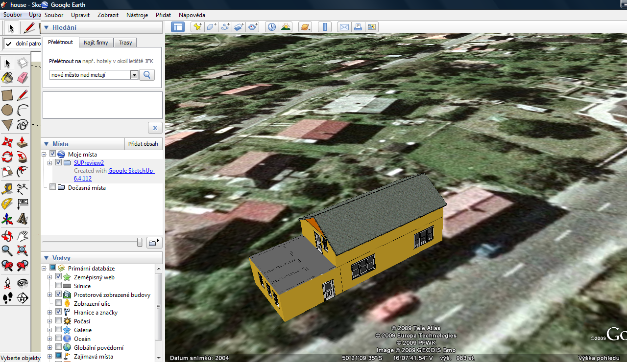 how to add sketchup model to google earth