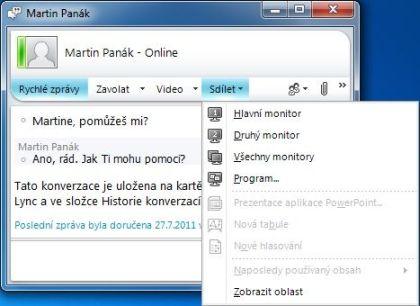 MS_Videokonferenční sdílení plochy PC