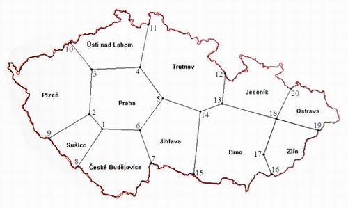 Rozdělení oblastí podle Technického plánu přechodu