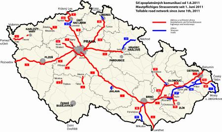 mapa mýtného k 1.6. 2011
