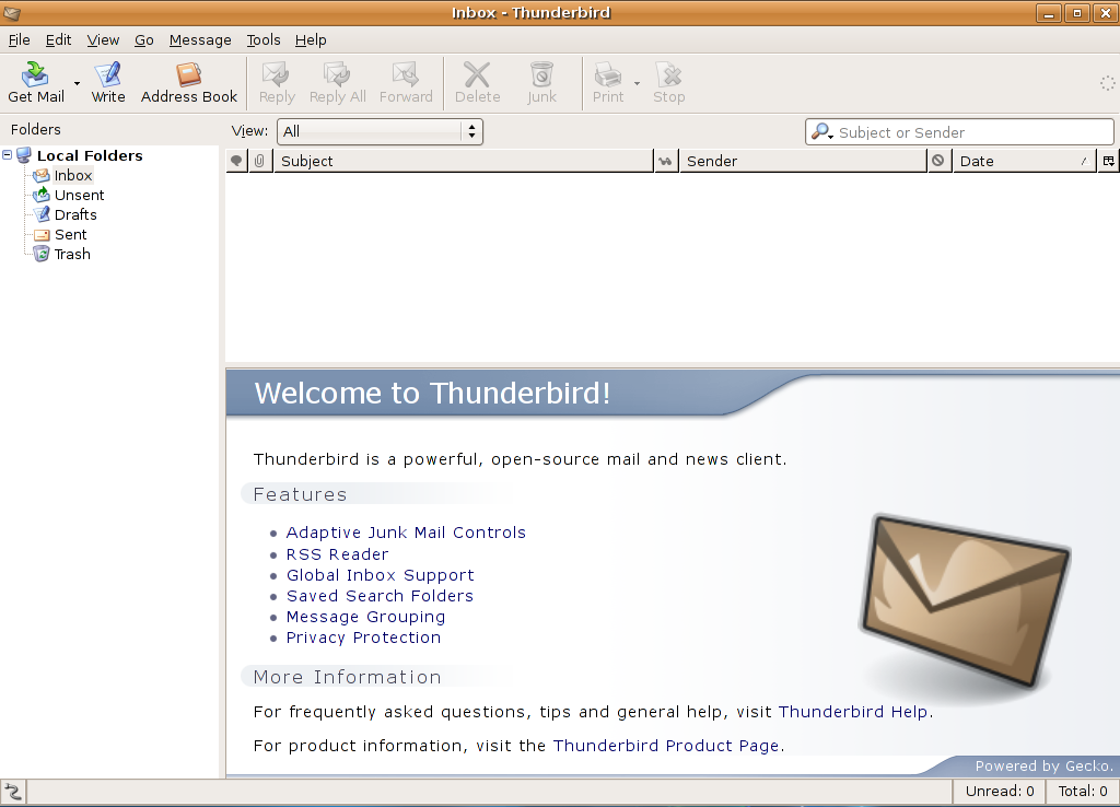 thunderbird how to make my settings template the default