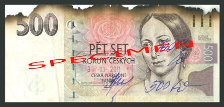 Poškozené bankovky 1