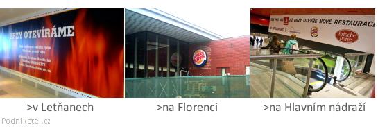 Nové provozovny: Burger King
