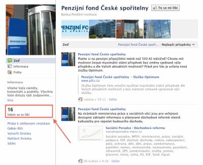 Facebook PFČS