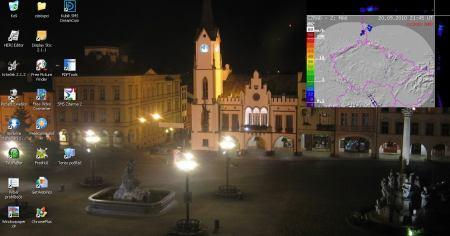 Obraz z webkamery na ploše