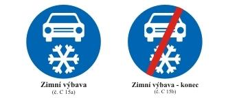 Značky - zimní výbava