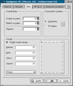 KDE správce tisku - nastevení tisku z konzole