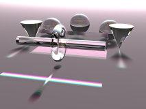 skleněné objekty