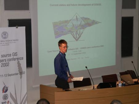 Markus Neteler prednáša