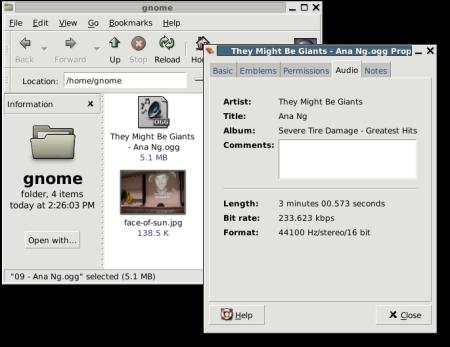 rozhraní vytvořeného pomocí knihovny GTK+