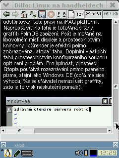 Webový browser Dillo