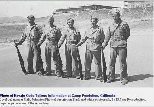 Výcvik indiánů v táboře Pendelton