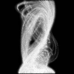 Obrázek 3: Jednoduchý částicový systém