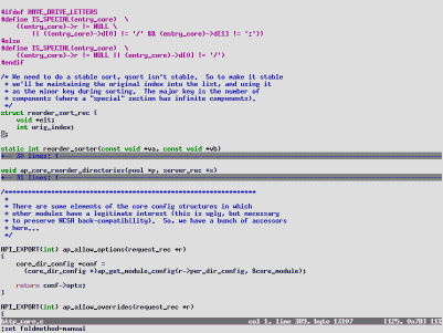 VIM 6.0 - Folding