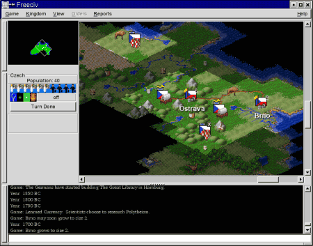 Screenshot FreeCiv