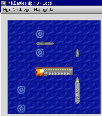 Screenshot Lodě (KBattleship)