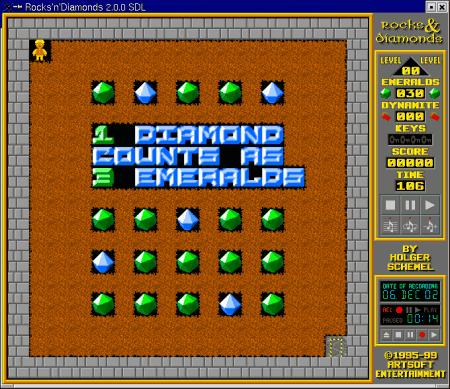 Screenshot Rocks'n'Diamonds