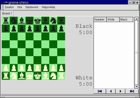 Screenshot GNOME Chess