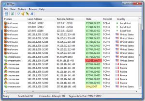 TCPEye 1.0 - náhled