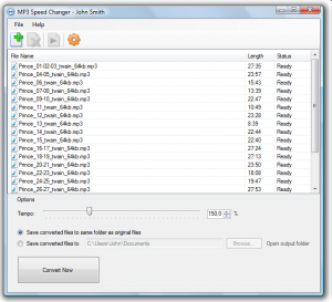 MP3 Speed Changer 3.01 - náhled