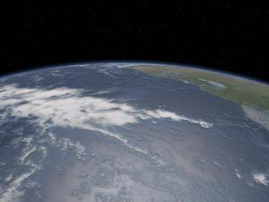 Pohled na planetu Zemi