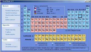 BasicChemi v2.2 - Periodická tabulka