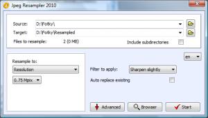 JPEG Resampler 2010 - náhled